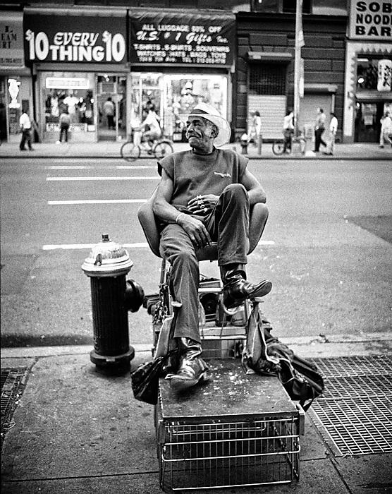 photoblog image Limpiabotas. NYC,1996.